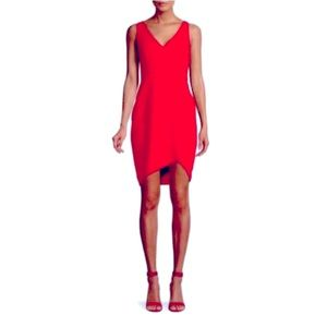 BCBGMaxAzria Red Eve High-Low Sheath Dress